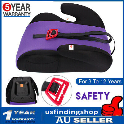 Car Booster Seat Safe Sturdy Baby Toddler Kid Children For 3 To 12 Years Purple
