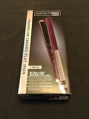 Infiniti Pro By Conair Tourmaline Ceramic Flat Iron Color Purple