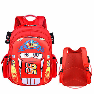 Cars Kids Toddler Backpack Lunch School Daycare Travel Bag Red Blue S M L 3 sz