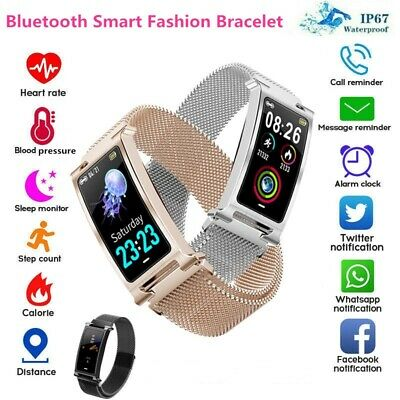Waterproof Sport Smart Watch Bracelet Heart Rate Blood Pressure Fitness Tracker@