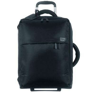 Lipault - 0% Pliable Foldable Upright 55/20 Luggage - Carry-On Rolling Black