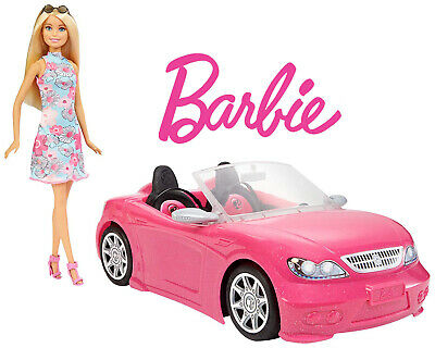 Barbie Doll with Convertible Pink Car - Pink Theme - Kids Girls Toys 3+ NEW