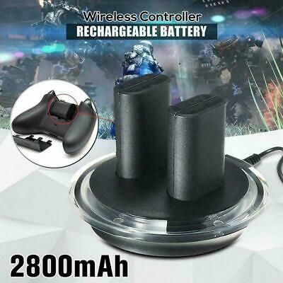 2x Rechargeable Battery + Charging Charge Dock Station ONE Controller For X C2B0