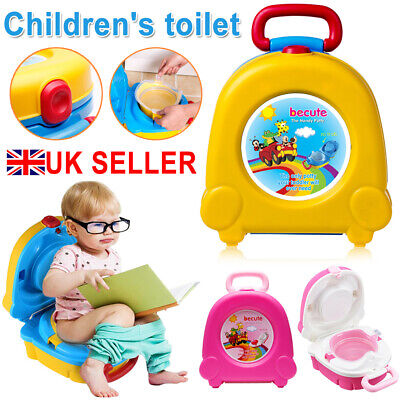 Portable Kids Toilet Seat Child Baby Toddler Training Potty Car Travel Seat UK