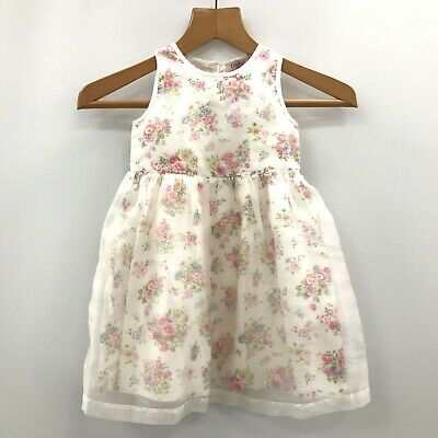 CATH KIDSTON KIDS White Pink Floral Dress Occasion Size Age 3-4 Years TH342550