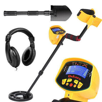 Waterproof LCD Metal Detector Deep Sensitive Gold Digger Hunter Coin with Shovel