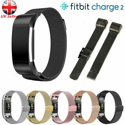 For Fitbit Charge 2 Milanese Stainless Steel Wristband Magnet Replacement Strap