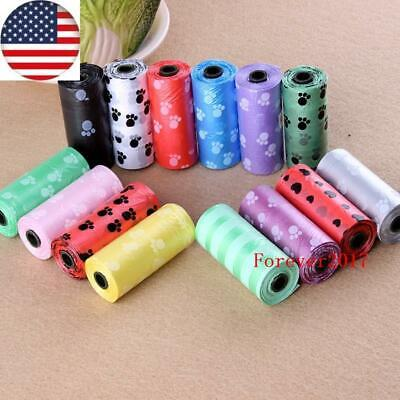 USA 5Rolls Dog Poop Bags for Pet Waste, Clean Up Refills on a Roll SHOW