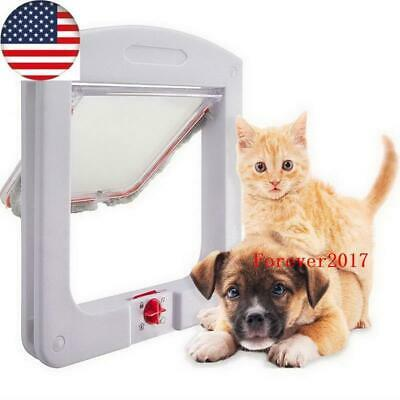 Cat & Dog Flap Door for Interior/Exterior Doors 4-Way Lock for Pets Entry & Exit