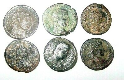 lot of 6 Late roman bronze coins