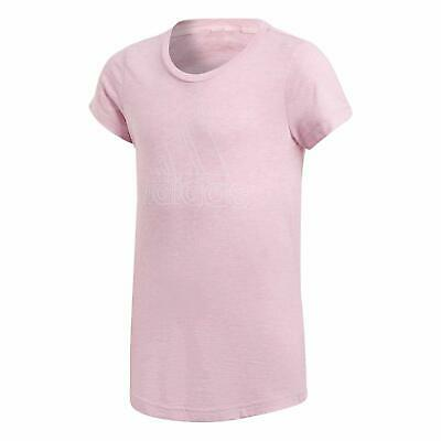 Adidas Children's Girl's ID Winner T-Shirt Pink Slim Fit Top - Age 11-12 Years