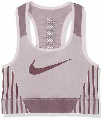 Nike Official Girl's Youth Kid's Fenom Seamless Sports Training Bra Top Purple