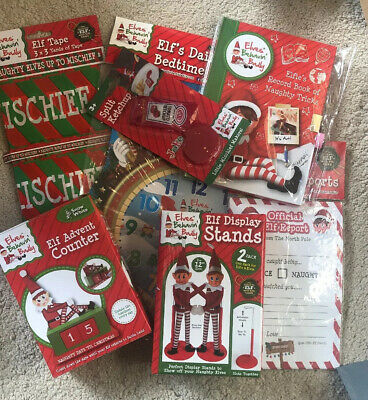 Elf props -7 X activities for Christmas -accessories Report Cards, Tape, Advent