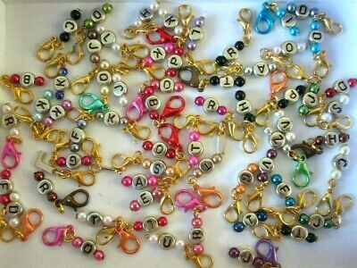 Initial Letter Mini Clips Wholesale Bulk Job Lot Bracelet Necklace Charms Filler