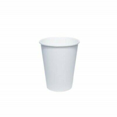White Takeaway Paper Hot Drink Cups 12oz, (25-1000 Pcs) Disposable Paper Cups