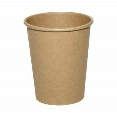Brown Disposable Takeaway Cups (50-1000 Pcs), 10oz Recyclable Kraft Coffee Cups
