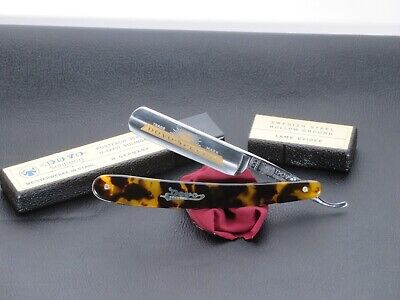 "Dovo 1516580 Dovo Special 5/8"" Carbon Steel Straight Razor Faux Tortoise, HONED"
