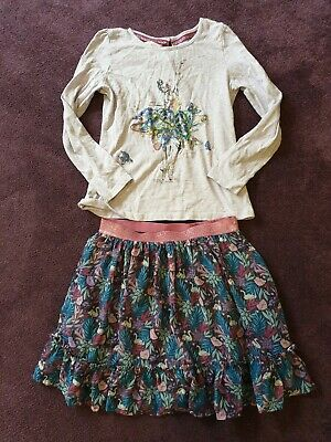 Monsoon Age 9-10 Glitter Outfit Skirt And Top