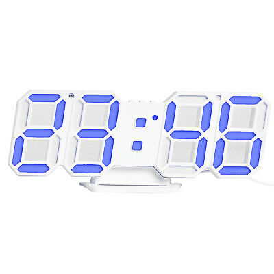 3D LED Digital Clock Electronic Table Clock Alarm Clock Wall Glowing S1R2