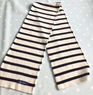 Stripy Boy scarf style sailor in cream and navy from Duger - 3 to 6 years old