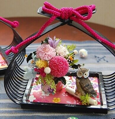 ** Japanese Preserved Flower Arrangement and Display ** original Bouquet Gift