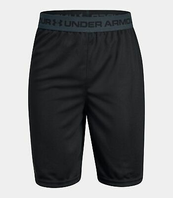 Under Armour Prototype 2.0 Boy's Youth Gym Excersise Sport Shorts Black Youth XL
