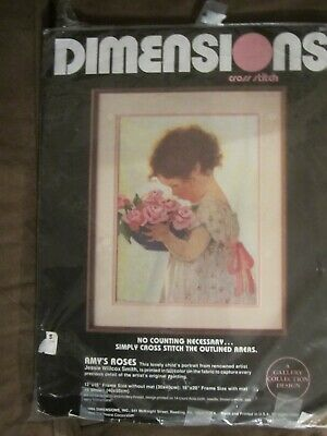 Dimensions Cross Stitch Kit- Amy's Roses (opened)