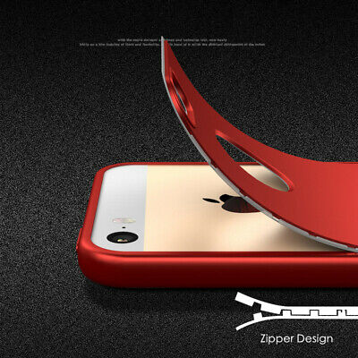 Full 360° Front Back Shockproof Gummi Bumper Case Cover for iPhone 6 6S 7 8 Plus