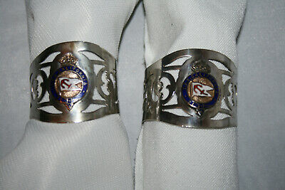 Pair of Antique Silver Plated Napkin Rings From TSS California - 1917