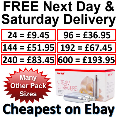 MOSA Cream Chargers N2O Canisters Whipped Nitrous Oxide Free Next Day Delivery