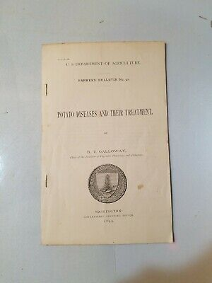 1899 US DEPARTMENT OF AGRICULTURE FARMERS BULLETIN No. 91, potatoe diseases