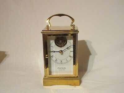 VINTAGE Beautiful 24K Gold Plated AUTHENTIC TOURBILLON Carriage Clock With Case