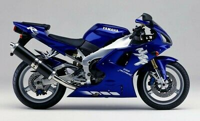 Yzf R1 1998 Full Paintwork Decal Kit Blue Bike