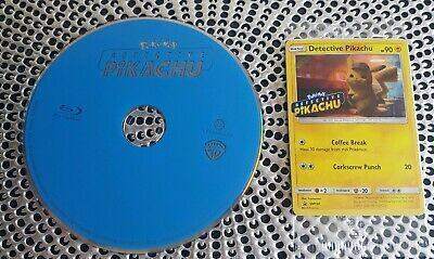 Pokémon:Detective Pikachu (2019) Blu-ray disc w/ trading card only *please read*