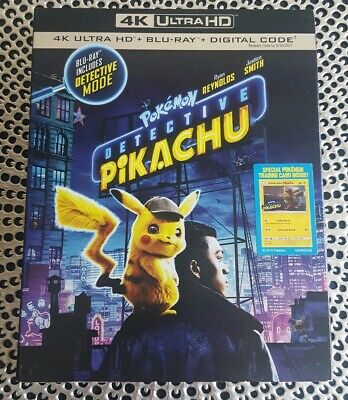 4k slipcover only Pokémon: Detective Pikachu (2019)  NO disc *please read*
