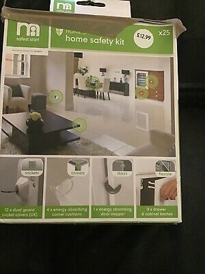 Mothercare Home Safety 25 pce Kit, Sockets, Edge protector, drawer cabinet latch
