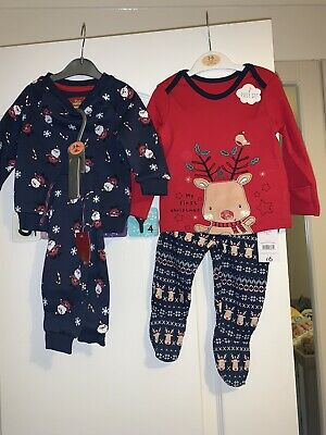 BNWT Baby 3-6 Months Christmas Clothes Bundle Girls Boys