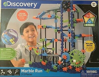Discovery 313 Pieces Kids Toy Marble Run Marble Works Marble Track