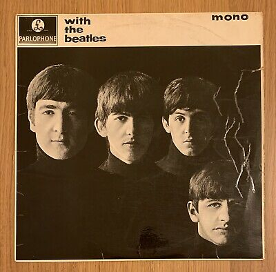 THE BEATLES - WITH THE BEATLES - VINYL LP Record UK 2nd press 1963 MONO PMC1206
