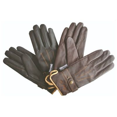 Mark Todd Adults Winter Leather Riding Gloves Thinsulate BLACK small