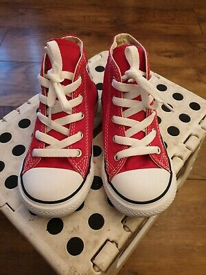 Red Converse boots Infant Size 10