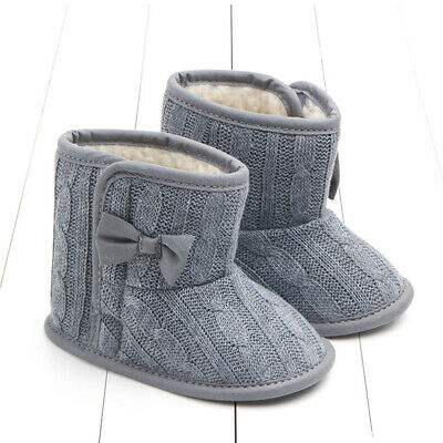Toddler Baby Girls Shoes Soft Crib Sole Shoes Newborn Kid Babe Winter Warm Boots