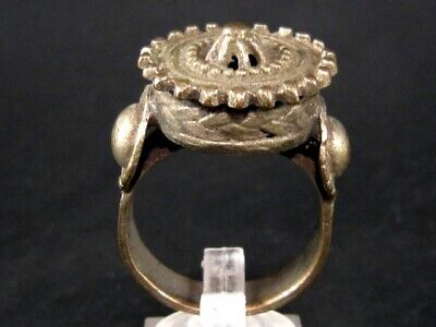 Superb Post Medieval Huge Silver Rex Ring, Top Condition+++