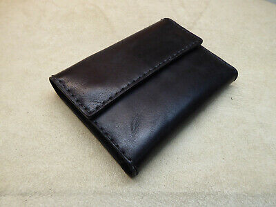 Handmade Black Leather Notebook A6 Agenda Organizer Diary Journal