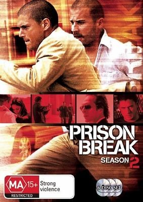 Prison Break : Season 2 (DVD, 2007, 6-Disc Set) Dominic Purcell Wentworth Miller