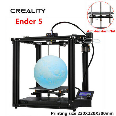 Newest Creality Ender 5 3D Printer Dual Y-axis 220X220X300mm 2019 AU Stock