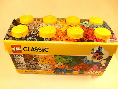 NIB LEGO Classic Medium Creative Bricks Kids 484 Piece Building Box Set 10696