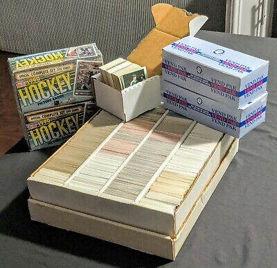 Huge Lot 5000+ NHL Hockey Cards (Singles, Sets, Vending Boxes) 1980 through 1995