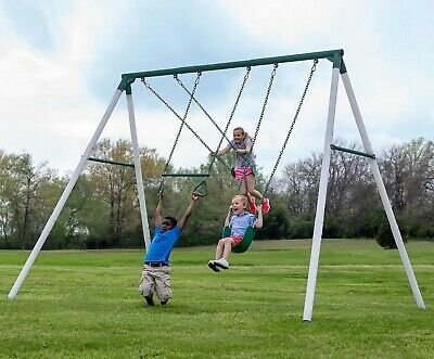 Red Swing Set Commercial Belt Outdoor Swings Playset Seat 23.6 x 5.9 inch