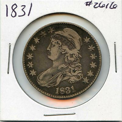 1831 50C Capped Bust Silver Half Dollar. Circulated. Lot #2347